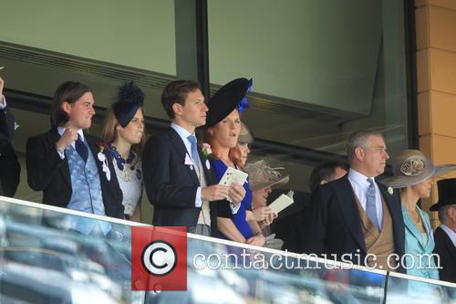 Prince Andrew, Duchess Of York, Sarah Ferguson, Princess Beatrice and Princess Eugenie 6