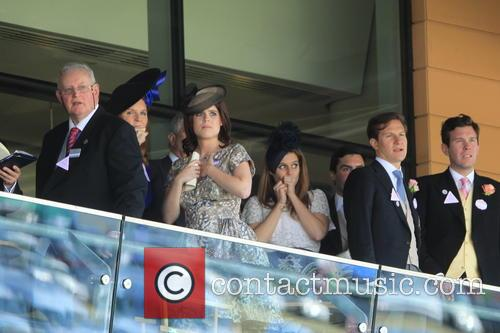 Duchess Of York, Sarah Ferguson, Princess Beatrice, Princess Eugenie and Prince Andrew 3