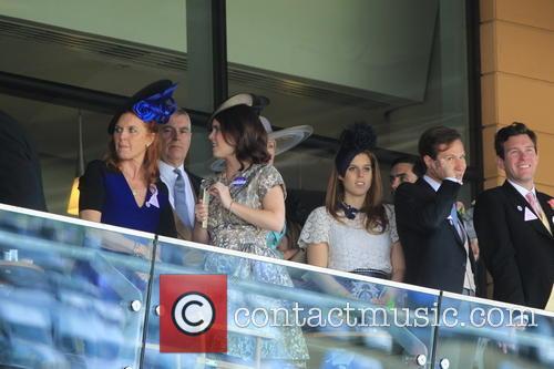 Duchess Of York, Sarah Ferguson, Princess Beatrice, Princess Eugenie and Prince Andrew 4