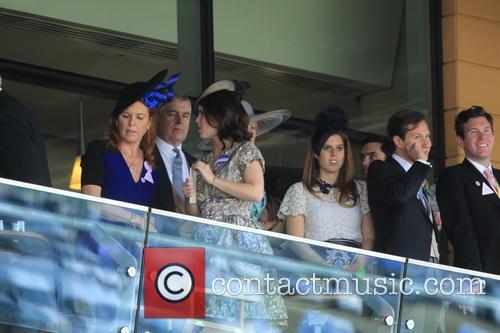 Duchess Of York, Sarah Ferguson, Princess Beatrice, Princess Eugenie and Prince Andrew 5