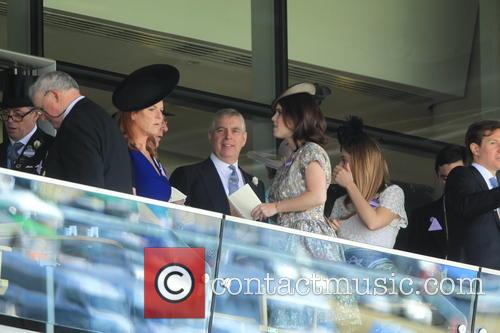 Duchess Of York, Sarah Ferguson, Princess Beatrice, Princess Eugenie and Prince Andrew 8