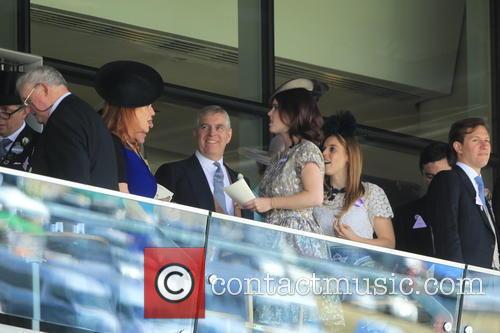 Duchess Of York, Sarah Ferguson, Princess Beatrice, Princess Eugenie and Prince Andrew 9