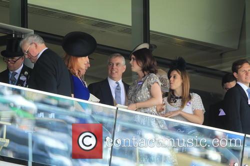 Duchess Of York, Sarah Ferguson, Princess Beatrice, Princess Eugenie and Prince Andrew 10