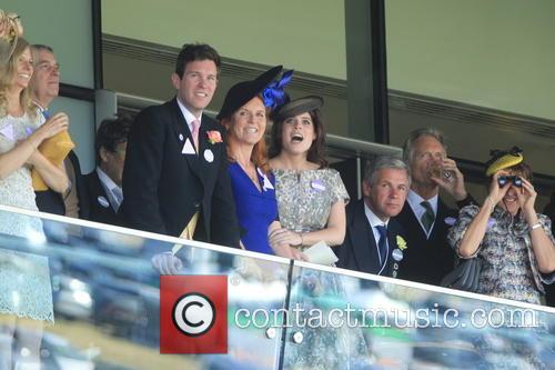 Dave Clark, Duchess Of York, Sarah Ferguson, Princess Beatrice, Princess Eugenie and Prince Andrew 10