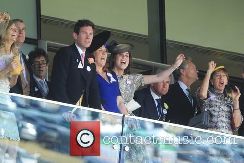 Dave Clark, Duchess Of York, Sarah Ferguson, Princess Beatrice, Princess Eugenie and Prince Andrew 11