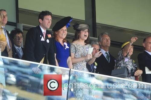 Dave Clark, Duchess Of York, Sarah Ferguson, Princess Beatrice, Princess Eugenie and Prince Andrew 1