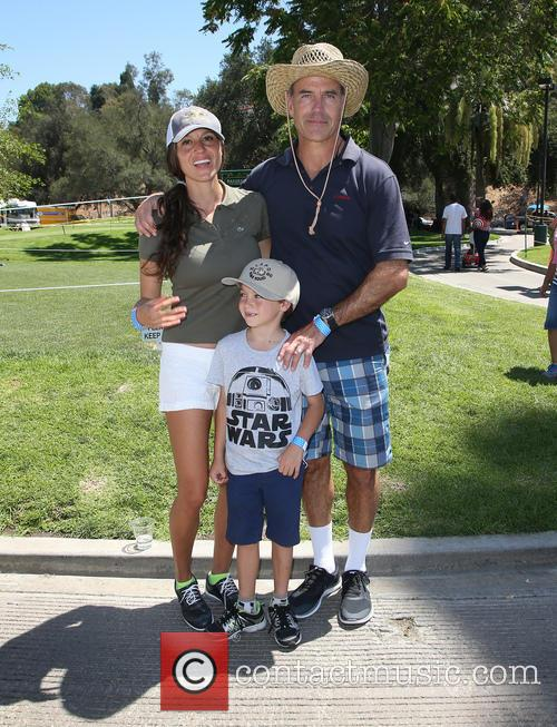 Richard Burgi, Liliana Lopez and Son 11