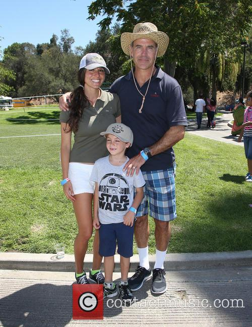 Richard Burgi, Liliana Lopez and Son 1