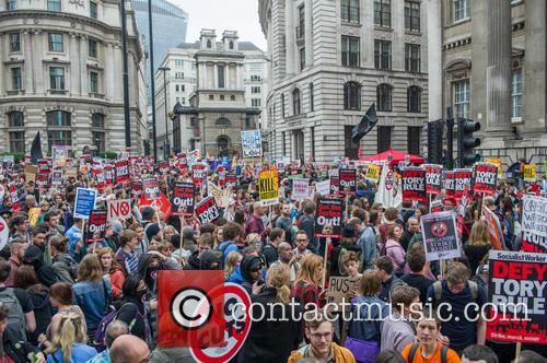 The People's Assembly Anti-Austerity March in Central London.