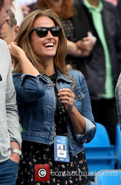 Kim Murray watches Andy Murray at Queens