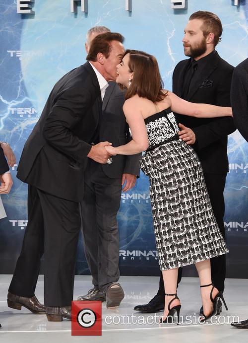 Arnold Schwarzenegger and Emilia Clarke 5