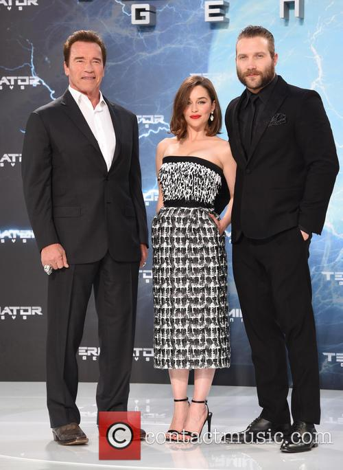 Arnold Schwarzenegger, Emilia Clarke and Jai Courtney 7