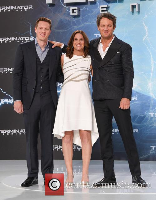 Jason Clarke, Dana Goldberg and David Ellison 2
