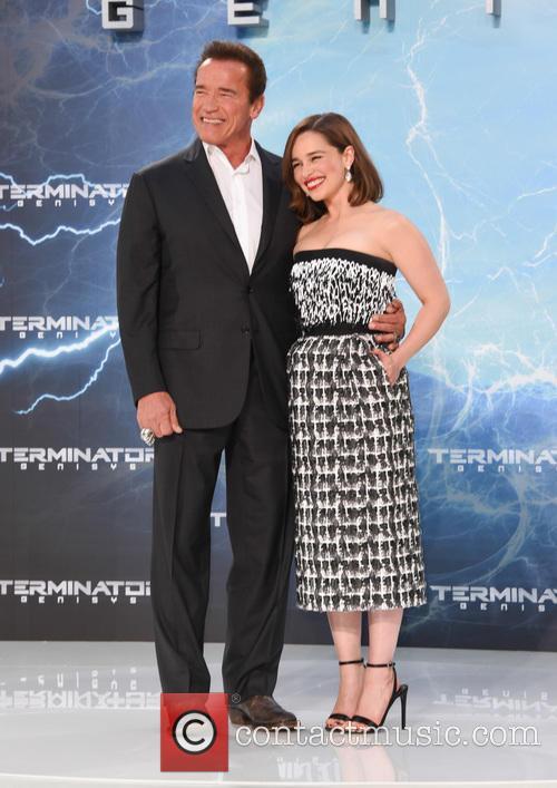 Arnold Schwarzenegger and Emilia Clarke 11