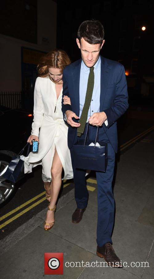 Lily James and Matt Smith 2