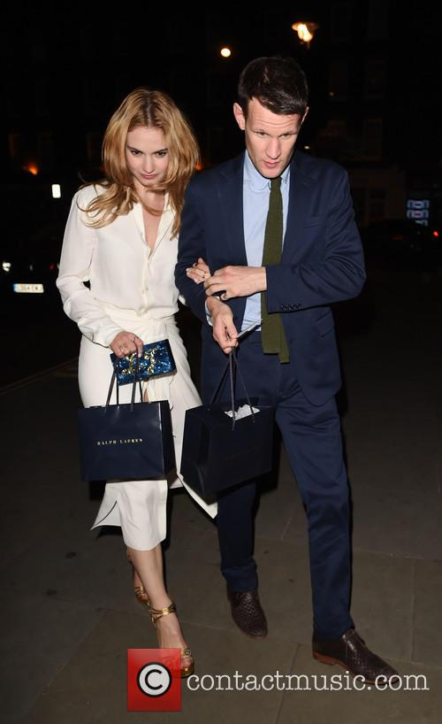 Lily James and Matt Smith 4