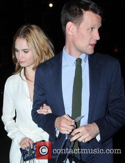 Lily James and Matt Smith 8