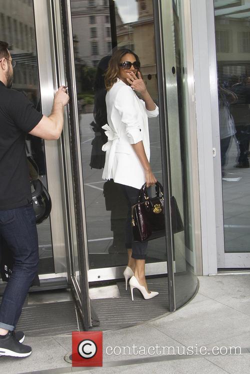 Alisha Dixon arriving at the BBC