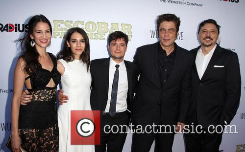 Laura Londoño, Claudia Traisac, Josh Hutcherson, Benicio Del Toro and Carlos Bardem 2