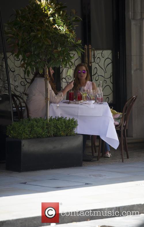Lindsey Lohan having a drink at Scott's