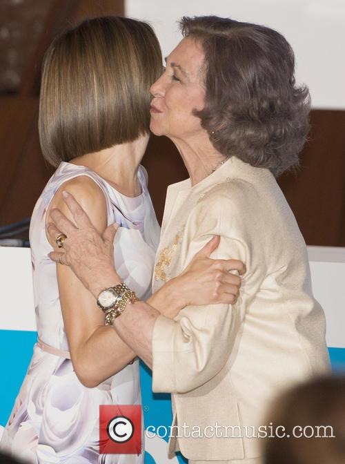 Queen Letizia Of Spain and Queen Sofia 9