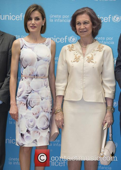Queen Letizia Of Spain and Queen Sofia 1