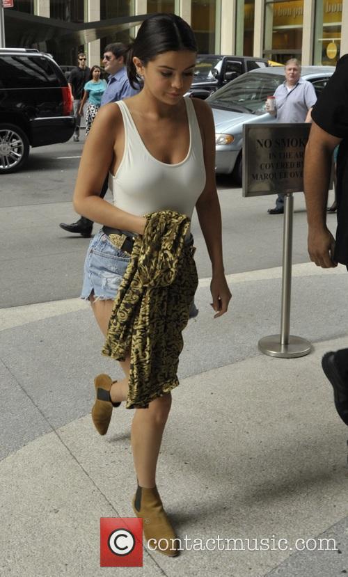 Selena Gomez leaves a hotel in New York