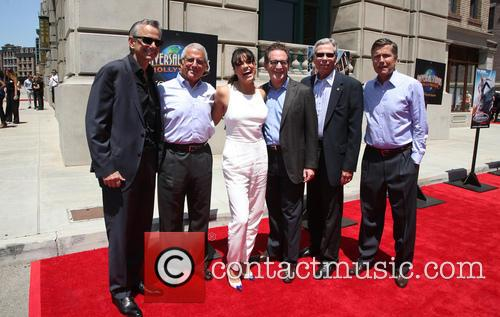 Michelle Rodriguez, Steve Burke, Larry Kurzweil, Tom Williams, Ron Meyer and Mark Woodbury
