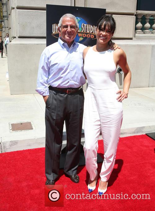 Ron Meyer and Michelle Rodriguez 2
