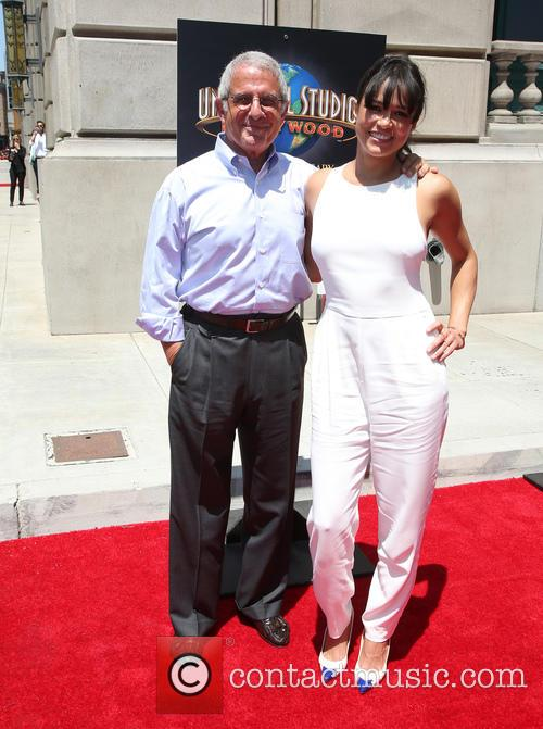 Ron Meyer and Michelle Rodriguez 3