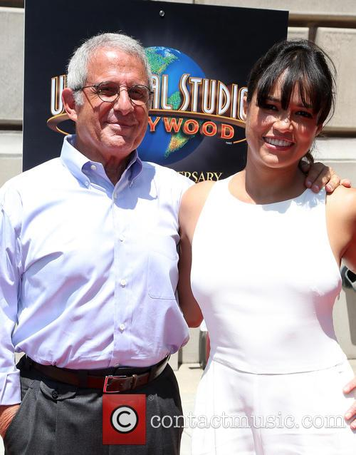 Ron Meyer and Michelle Rodriguez 5