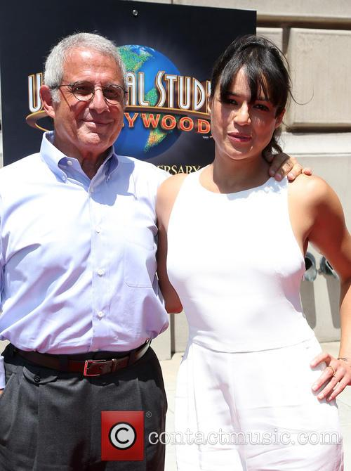 Ron Meyer and Michelle Rodriguez 7