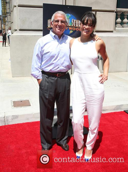 Ron Meyer and Michelle Rodriguez 10