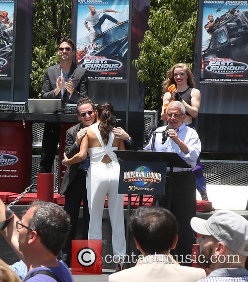 Larry Kurzweil, Michelle Rodriguez and Ron Meyer 3