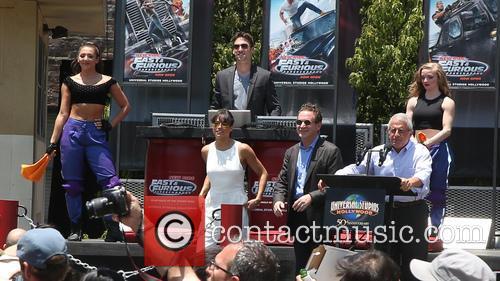 Larry Kurzweil, Michelle Rodriguez and Ron Meyer 4