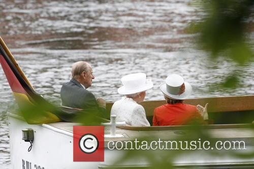 Prince Philip, Queen Elizabeth Ii and Daniela Schadt 6