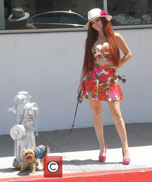 Phoebe Price takes her dog for a walk
