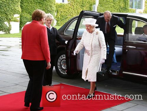 Angela Merkel, Queen Elizabeth Ii and Prince Philip Duke Of Edinburgh 2