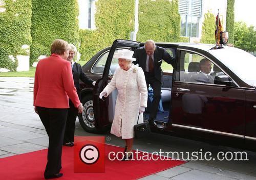 Angela Merkel, Queen Elizabeth Ii and Prince Philip Duke Of Edinburgh 3