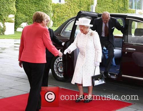 Angela Merkel, Queen Elizabeth Ii and Prince Philip Duke Of Edinburgh 4