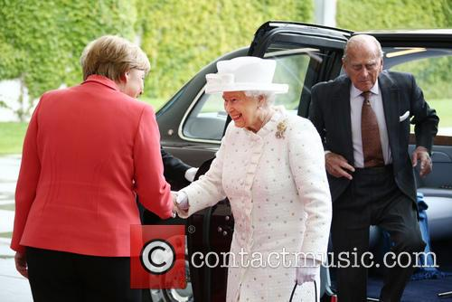 Angela Merkel, Queen Elizabeth Ii and Prince Philip Duke Of Edinburgh 5