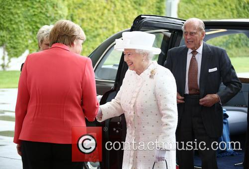 Angela Merkel, Queen Elizabeth Ii and Prince Philip Duke Of Edinburgh 1