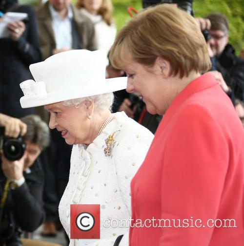 Queen Elizabeth Ii and Angela Merkel 1