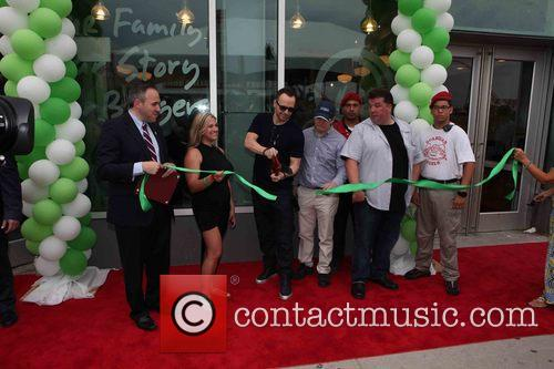 Mark Treyger, Donnie Wahlberg, Paul Wahlberg, John Cestare and Franchise Owner 2