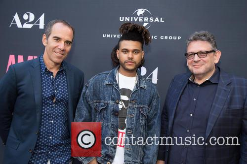 Monte Lipman, The Weeknd and Lucian Grainge 2