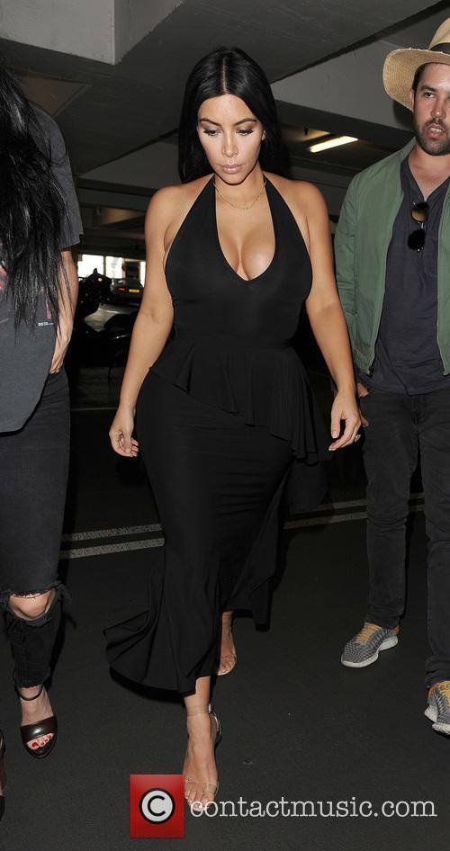 Kim Kardashian arrives at Selfridges