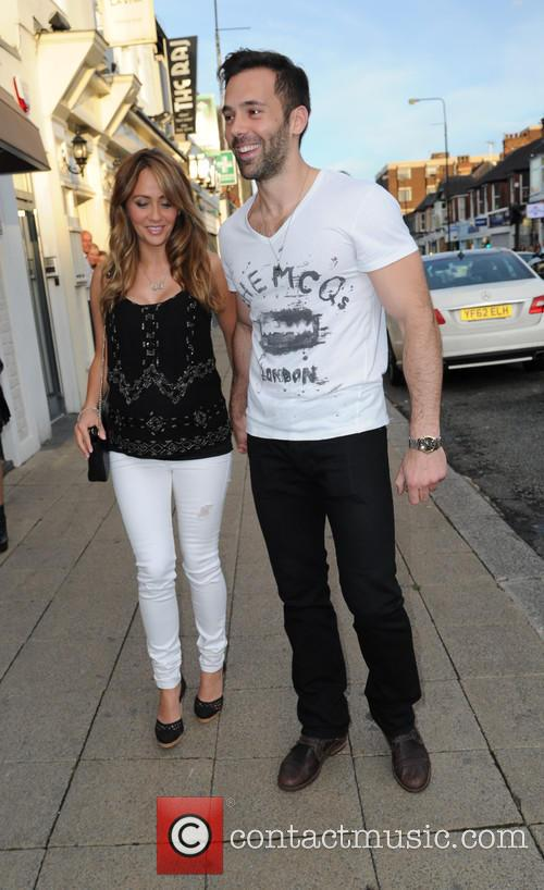 Pregnant Samia Ghadie and Sylvain Longchambon arrive at...