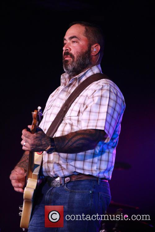 American country singer Aaron Lewis performs at the...