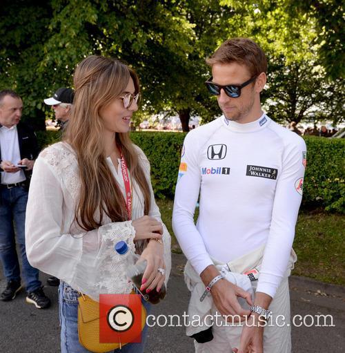 Jenson Button and Jessica Michibata 1