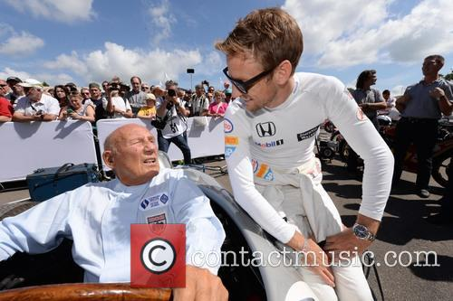 Sir Stirling Moss and Jenson Button 2